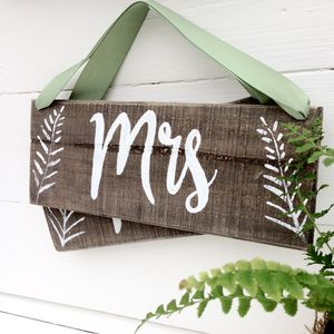 Mr And Mrs Woodland Wedding Style Signs - signs