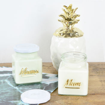 Mother's Day Script Candle