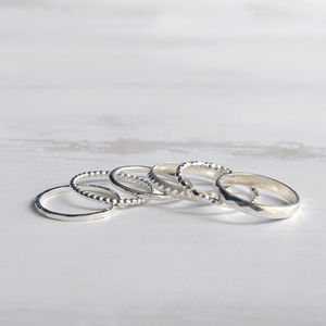 Create Your Own Silver Stacking Ring Set - rings