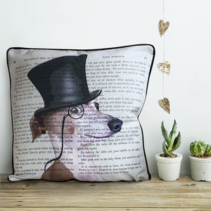 Greyhound Cushion, Formal Dog Collection - children's room