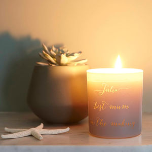 Personalised Glow Through Love You Candle - home accessories