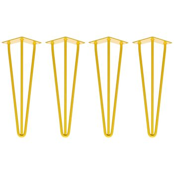 Set Of Four 41cm Bench Hairpin Legs