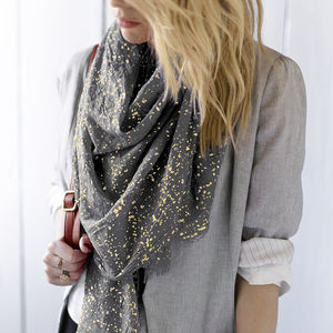 Personalised Metallic Scarf - gifts for grandparents