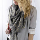 Personalised Metallic Scarf