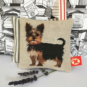 Yorkshire Terrier 'Yorkie' Lavender Bag - decorative accessories