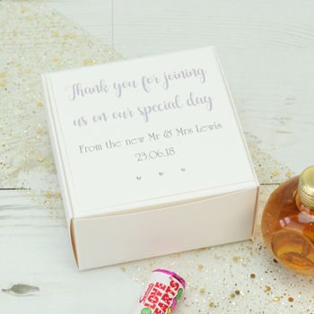 Personalised Wedding Favour Box
