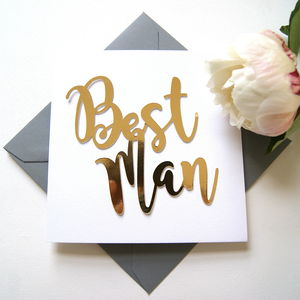 Best Man Card - wedding cards & wrap