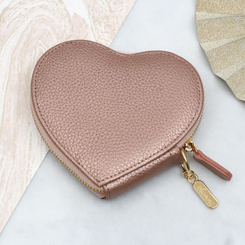 Personalised Luxury Leather Heart Purse