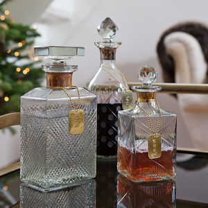 Decanter With Tags - personalised gifts for him