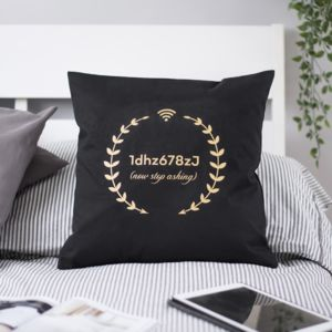 Personalised Wifi Code Cushion - patterned cushions