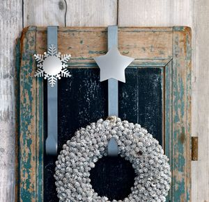 Festive Silver Wreath Hook - wreaths