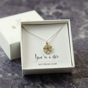 Personalised Gold And Silver Initial Star Necklace - necklaces & pendants