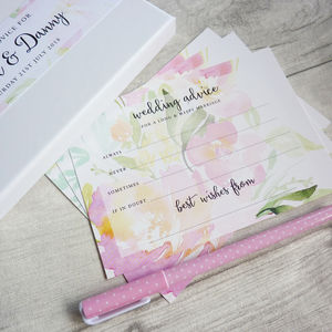 Floral Wedding Advice Cards - table decorations