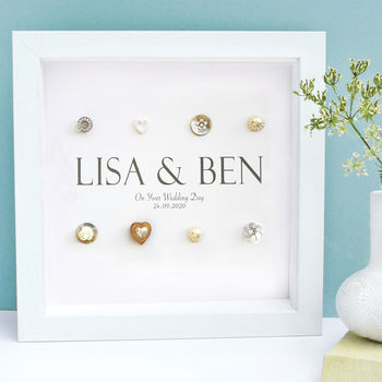 Personalised Wedding Names Art Gift