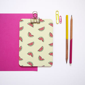 Mini Watermelon Clipboard - desk tidies