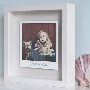 Personalised Framed Floating Metal Polaroid Photo - gifts for fathers