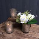 Everlasting Rose And Votive Set Of Three