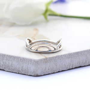 Gaia Sterling Silver Scalloped Stack Ring