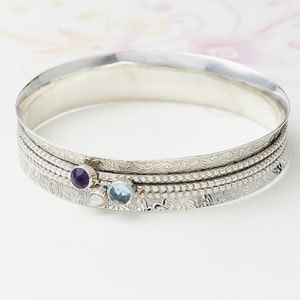 Mystical Treasure Spinning Bangle - bracelets & bangles