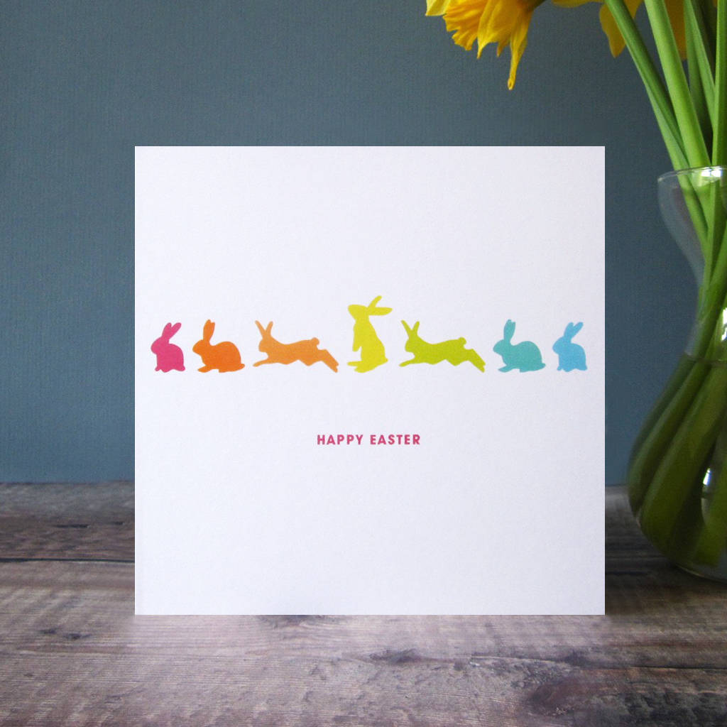 rabbits happy easter card by mrs l cards – Happy Easter Card