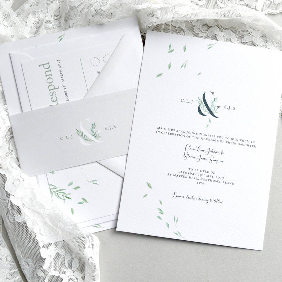 Falling Leaves Wedding Invitation