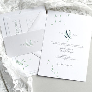 Falling Leaves Wedding Invitation - wedding stationery