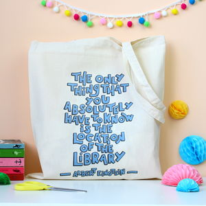 Albert Einstein Quote Book Lovers Tote Bag - bags & purses