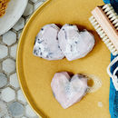 Marbled Heart Shape Soap In A Grey Gift Box