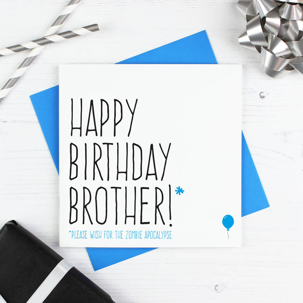 Brother Zombie Birthday Card