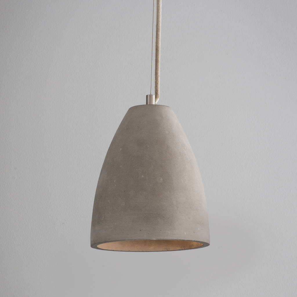 dome concrete pendant light by idyll home