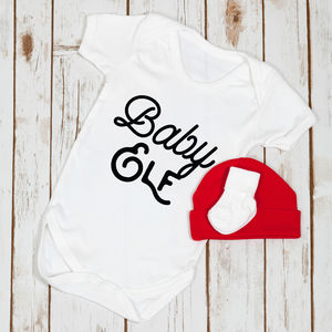 First Christmas Baby Elf Babygrow - baby & child christmas clothing