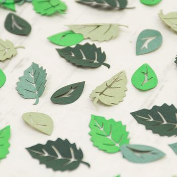 Green Leaf Table Confetti