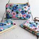 Pastel Floral Print Make Up Bag