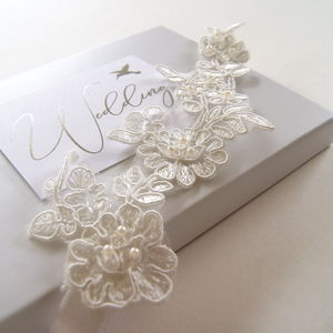 Grace Ivory Guipure Wedding Garter - bridal garters