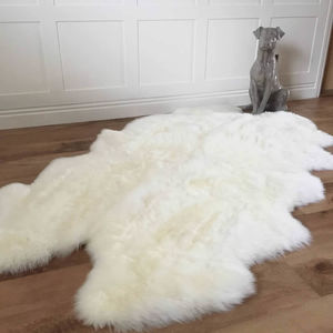 Luxury Ivory Sheepskin Quad Rug X L - baby's room