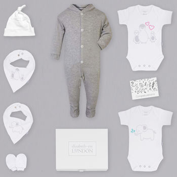 Baby Starter Set Gift Hamper Grey