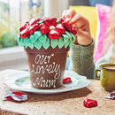 Belgian Chocolate Smash Flower Pot Red