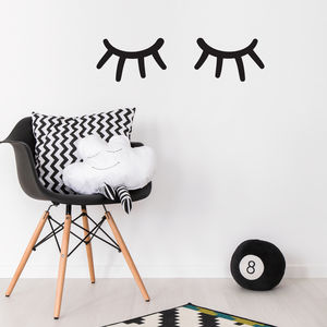 Sleepy Eyes Wall Sticker - decorative accessories