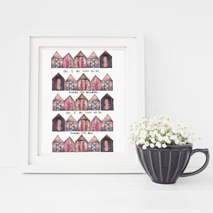 Beachhuts Fine Art Print