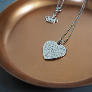 Love Story Necklace - wedding jewellery