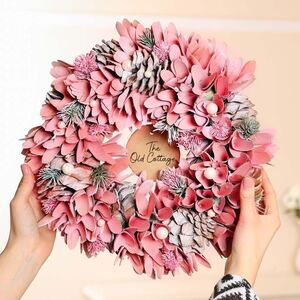 Personalised Blush Rose Petal Wreath