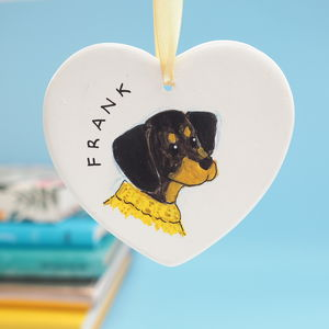 'From The Dog' Gift, Personalised Portrait Decoration