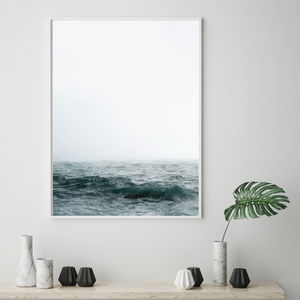 Moody Sea Contemporary Scandinavian Print - modern & abstract