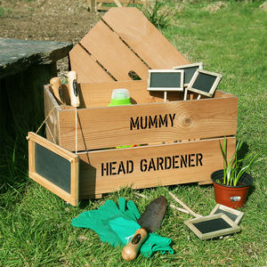 Personalised Allotment Kit Crate - best gifts for fathers