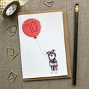 Personalised 70th Birthday Card Dog Design