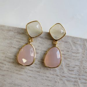 Pink Chalcedony Earrings - earrings