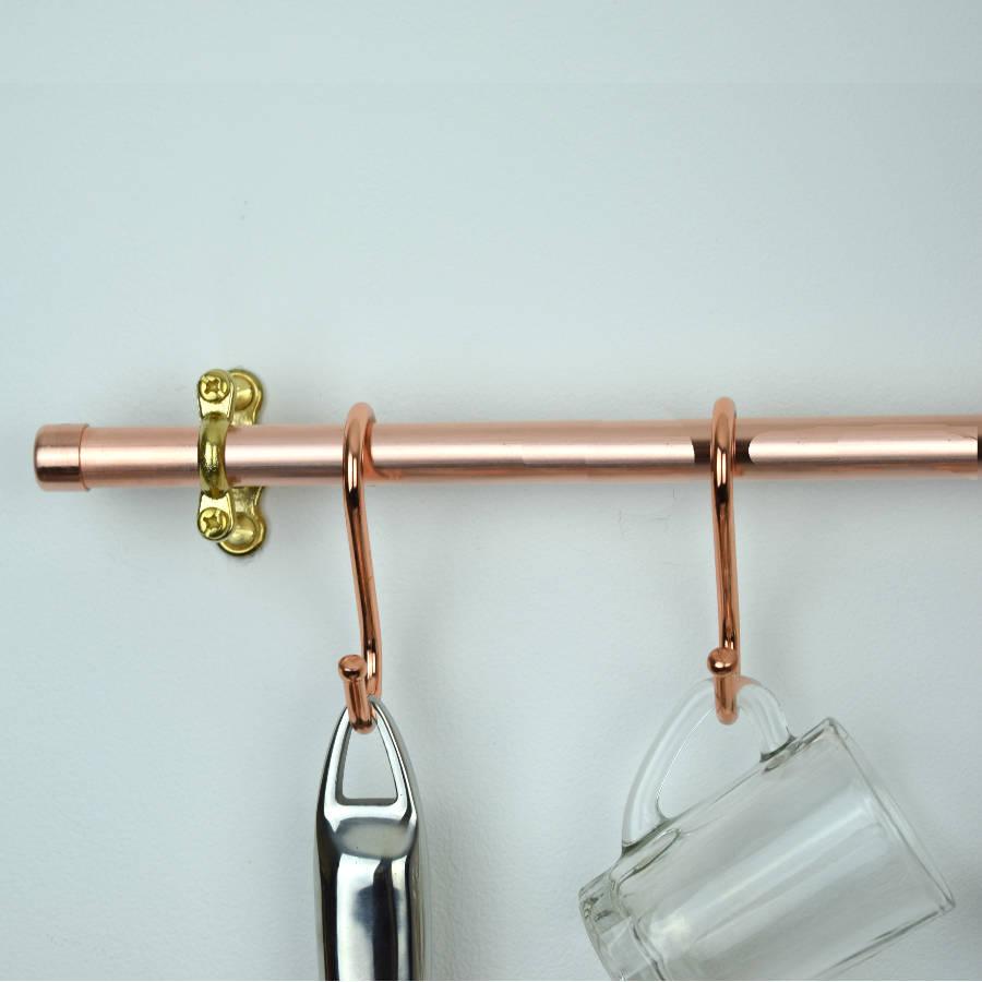 copper pan rail by proper copper design | notonthehighstreet.com