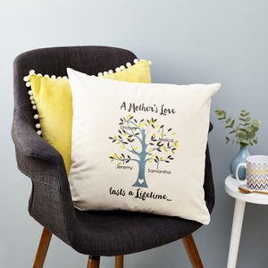 Mother's Love Family Tree Cushion - gifts for mothers