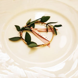 Copper Hand Stamped Place Setting