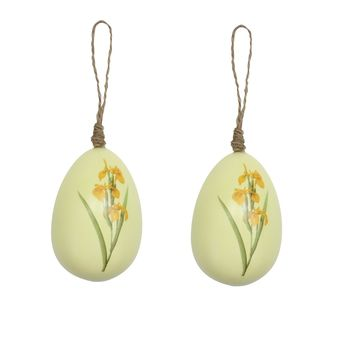 Painted Floral Egg Decorations